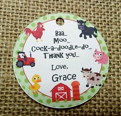 15x Animal Farm Birthday Tags Labels Farmyad Theme Party Favour Decoration](Farm Birthday Theme)