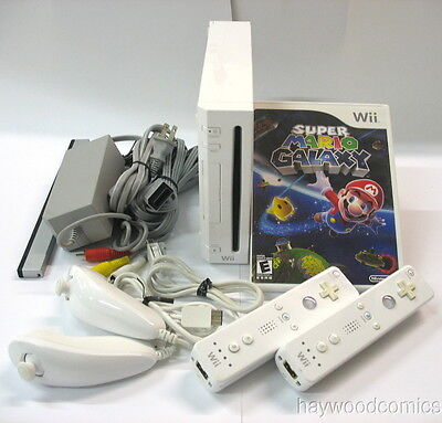 NINTENDO WII GAME SYSTEM BUNDLE - With SUPER MARIO GALAXY & Accessories! on Rummage