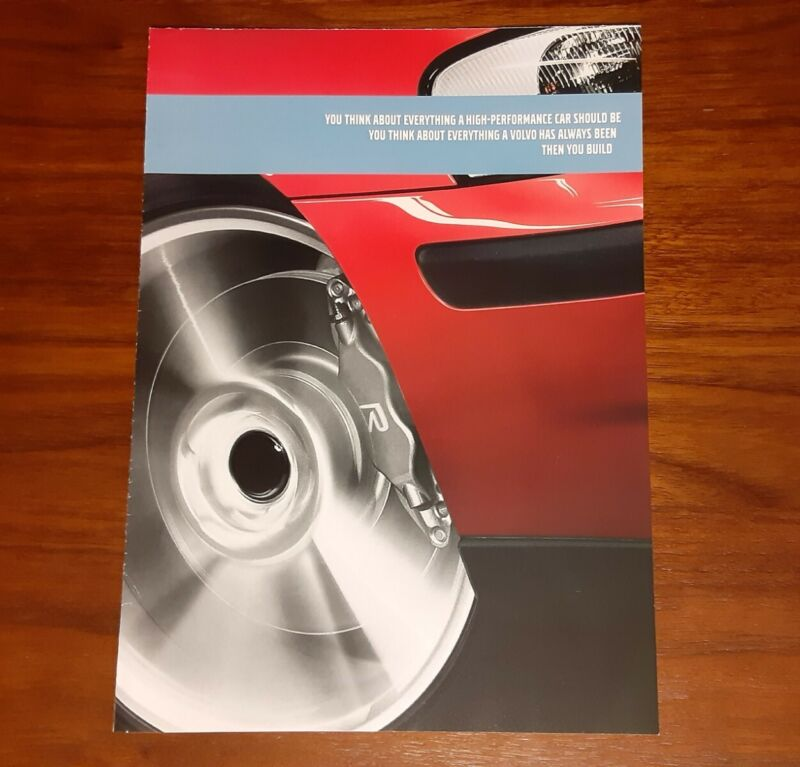 VOLVO S60 R MAGAZINE ADVERTISEMENT FOLD OUT MINI POSTER FOUR-C TECHNOLOGY