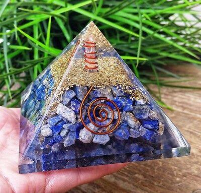 Lapis Lazuli Orgone Crystal Healing Reiki Pyramid ~ SC7