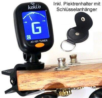 Tuner Clip On LCD Gitarre-Bass-Ukulele-Violine Stimmgerät inkl. Plektrenhalter