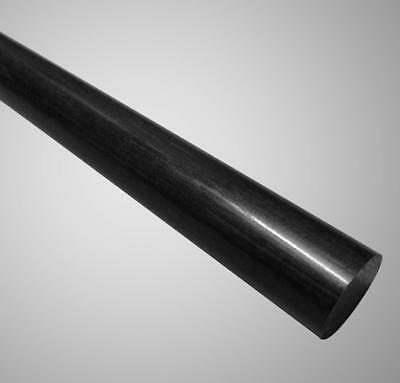 POLYMERSHAPES 2XPC8 Rod,Nylon,Black,1//2 In Dia x 3 Ft L