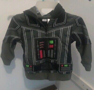 Star Wars Darth Vader Charcoal/Black Boys small Costume Hoodie - dark side Sith
