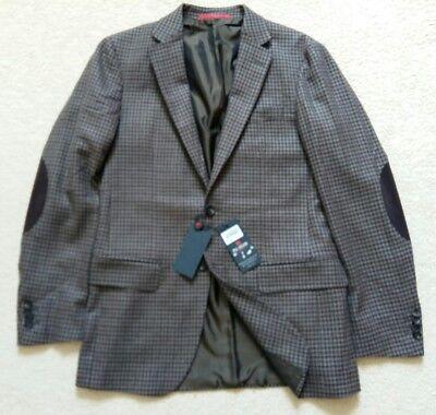 Pal Zileri Concept Brown Check Sport Coat Size S