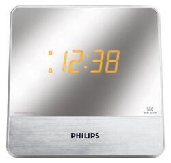 Philips AJ3231 LED Mirror Clock Radio - Silver (IL/RT6-13354-AJ3231-UA)