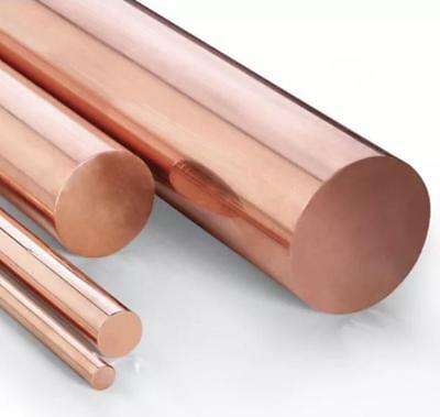 Us Stock 12mm Dia. 9.85 Long 99.9 Pure Copper T2 Cu Metal Rods Cylinder
