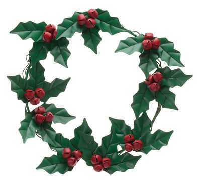 Holly and Berries Metal Wreath by Maple Lane Creations  ()