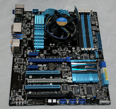 Asus P8Z68-V PRO Motherboard for parts only, No CPU or fan