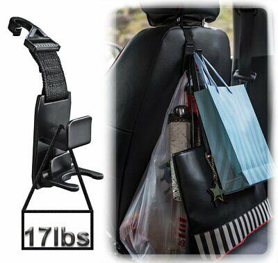 Black Car Seat Headrest Hooks Hangers Holders Clips Organizer for Bags Backpack