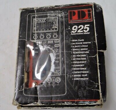 Pdi 925 Digital Automotive Multimeter Meter W Clamp Box