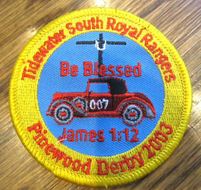 Tidewater South Be Blessed Pinewood Derby 2003 Royal Rangers Rr Uniform Patch