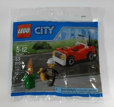 LEGO City Town Fire Polybag Set #30347 Fire Car 53 pcs. ~ Brand New,/Sealed!