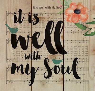 It is Well with My Soul Sheet Music Design Wood Pallet Design Wall Sign Plaque