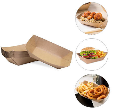 100pk Brown Disposable Food Trays Restaurant Catering Serving Supplies Bulk