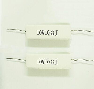 2pcs 10 Ohm 10r00 10r10w10 Watt High Power Resistor