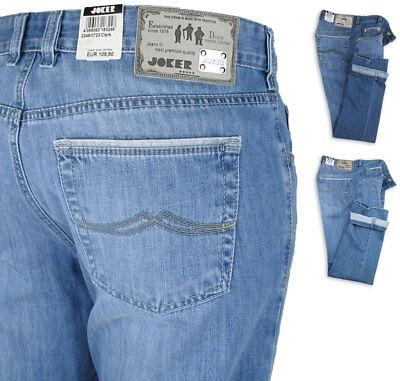 JOKER Herren Jeans Clark ( Comfort Fit ) Farbwahl ice + ocean blue PREMIUM Premium Herren Jeans