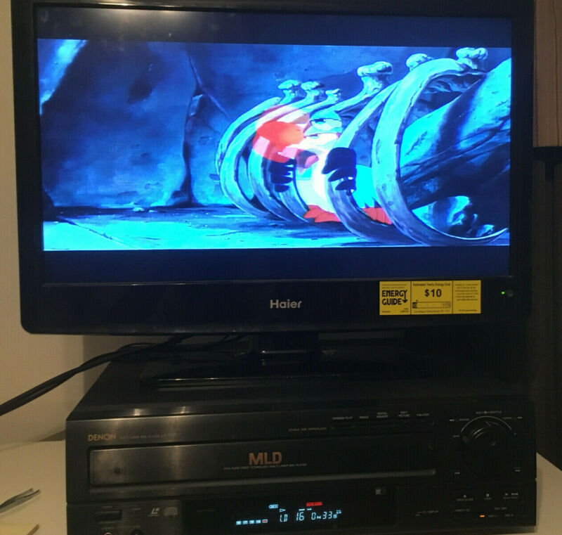 Denon LA-3100 Laser Disc Player CDV Multi Format with remote TESTED/WORKING