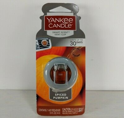 Yankee Candle Smart Scent Vent Clip Car & Home Air Freshener. Spiced Pumpkin