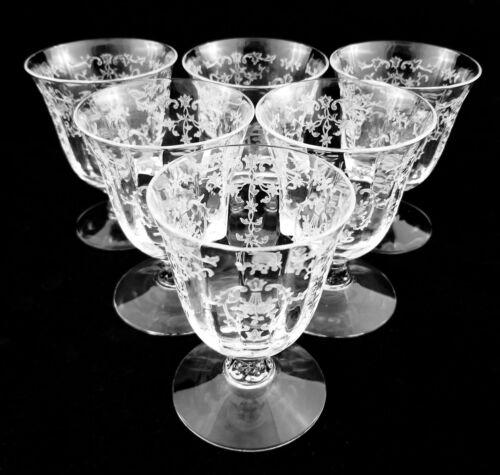 "Six (6) Fostoria Crystal Navarre 3 5/8"" 4 oz. Oyster Cocktails"