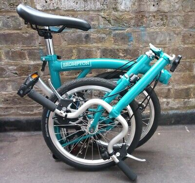 """2019 Brompton B75 16"""" Folding Bike Blue used twice *CASH ON COLLECTION ONLY*"""