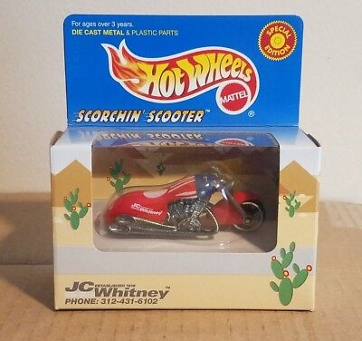 Hot Wheels Jc Whitney Red Scorchin Scooter