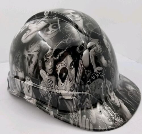Hard Hat custom hydro dipped , OSHA approved TATTOO BABES NEW SUPER SICK 1
