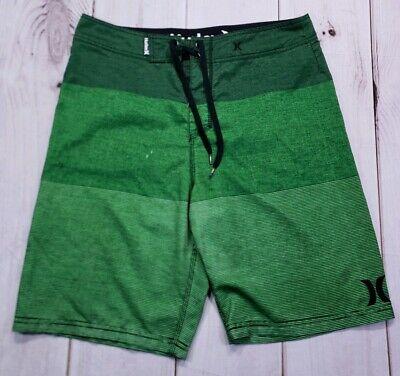 260724d6ceb67 Hurley Mens Board Shorts Swim Surf Trunks Green Size 32