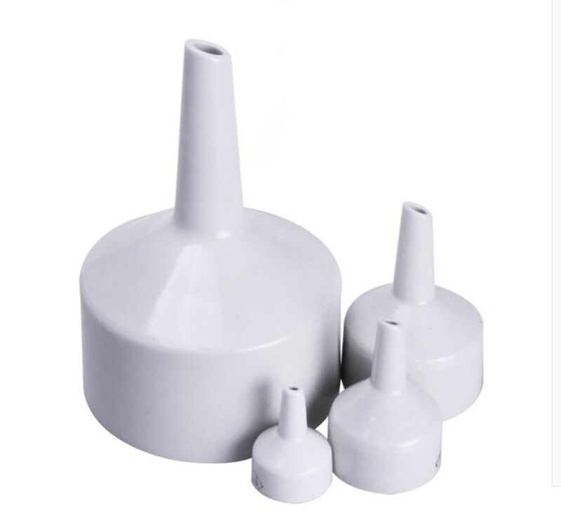 Diameter 60mm-200mm.Porcelain Buchner Chemistry Lab Filter Tools Porous Funnel