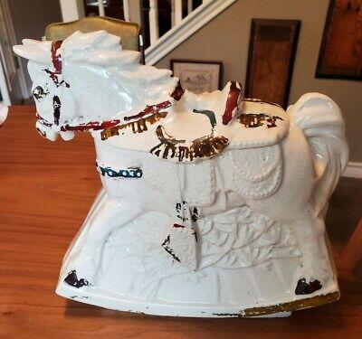Vintage McCoy Rocking Hobby Horse Mid Century Ceramic Cookie Jar