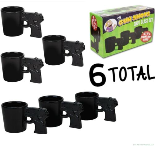 BigMouth Inc Gun Shots Pistol Shaped Shot Glass Set