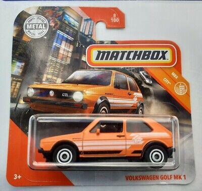 Matchbox Orange VW Volkswagen Golf MK1 All New & Sealed short Card