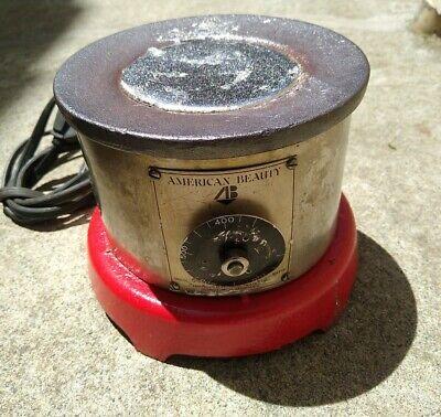 American Beauty Solder Pot Model 600 120v 600w W 2.5lbs. Of 6337 Solder