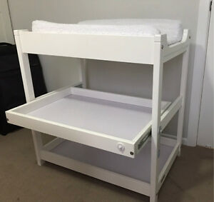 GROTIME change table with pull out shelf White wood Morningside Brisbane South East Preview
