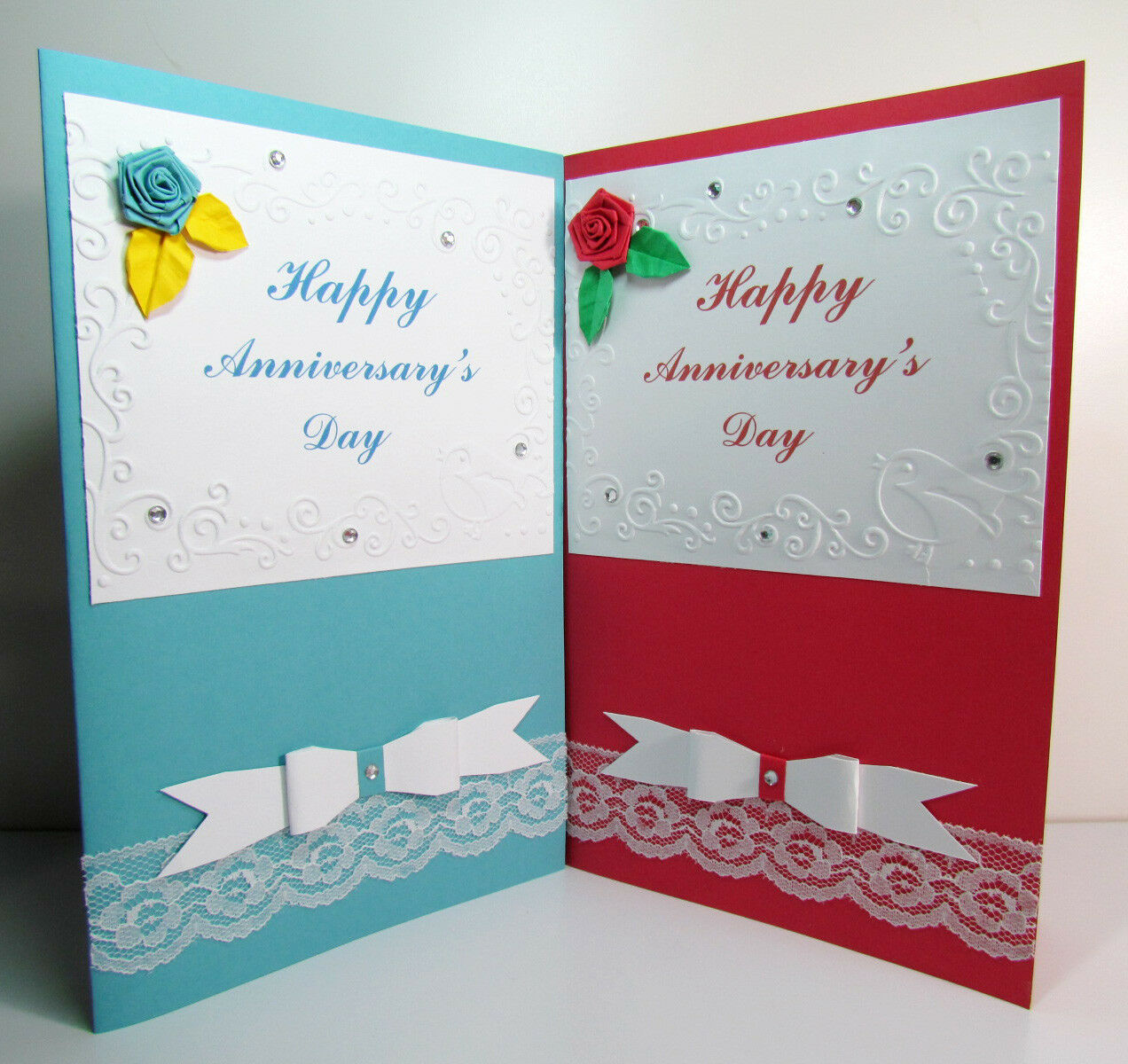 Happy Anniversarys Day Diy Handmade Greeting Card Special Lover