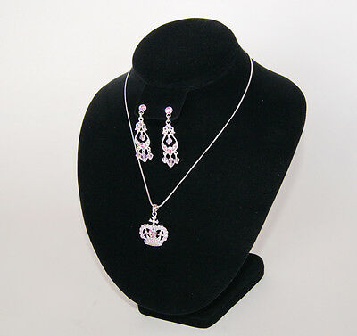 7.5hx7.5w Black Earring Bust Necklace Chain Pendant Earr Display Bust Tl173eb1