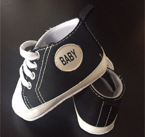 Converse-Style Crib Shoes, size 3-3.5ish