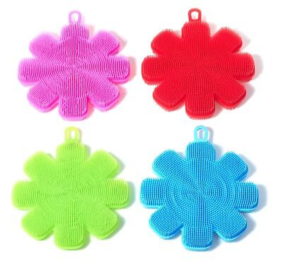 3 Set Kitchen Home Silicone Dish Washing Sponge Scrubber Cleaning Cleaner Mat