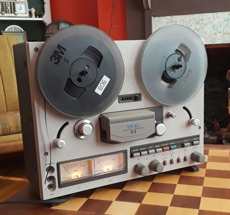 VINTAGE TEAC X-3 REEL to REEL TAPE PLAYER RECORDER