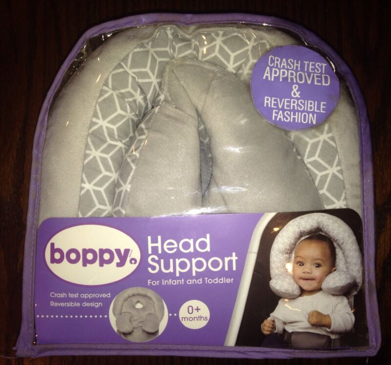 NEW Boppy Infant to Toddler Head and Neck Support Reversible Design Gray Unisex