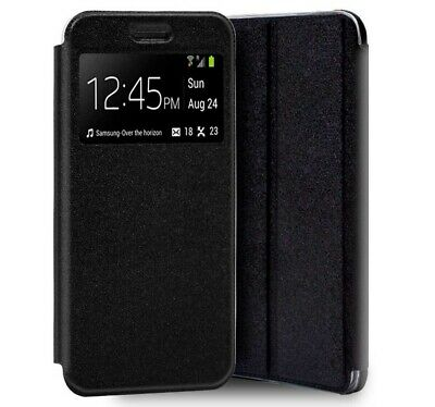 Cover Book Holder With Window For Realme 6 Black Color