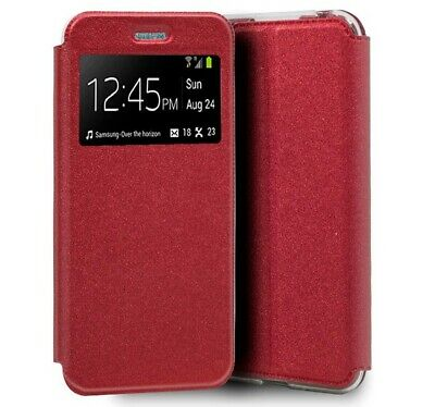 Cover Book Holder With Window For Realme 6 Red Color