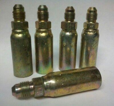 5 Weatherhead Crimp Hydraulic Hose Fittings 04u-504- Male Jic -4 X14 Hose