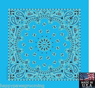 LIGHT BLUE PAISLEY Bandana Head Wrap Scarve BANDANNA 22