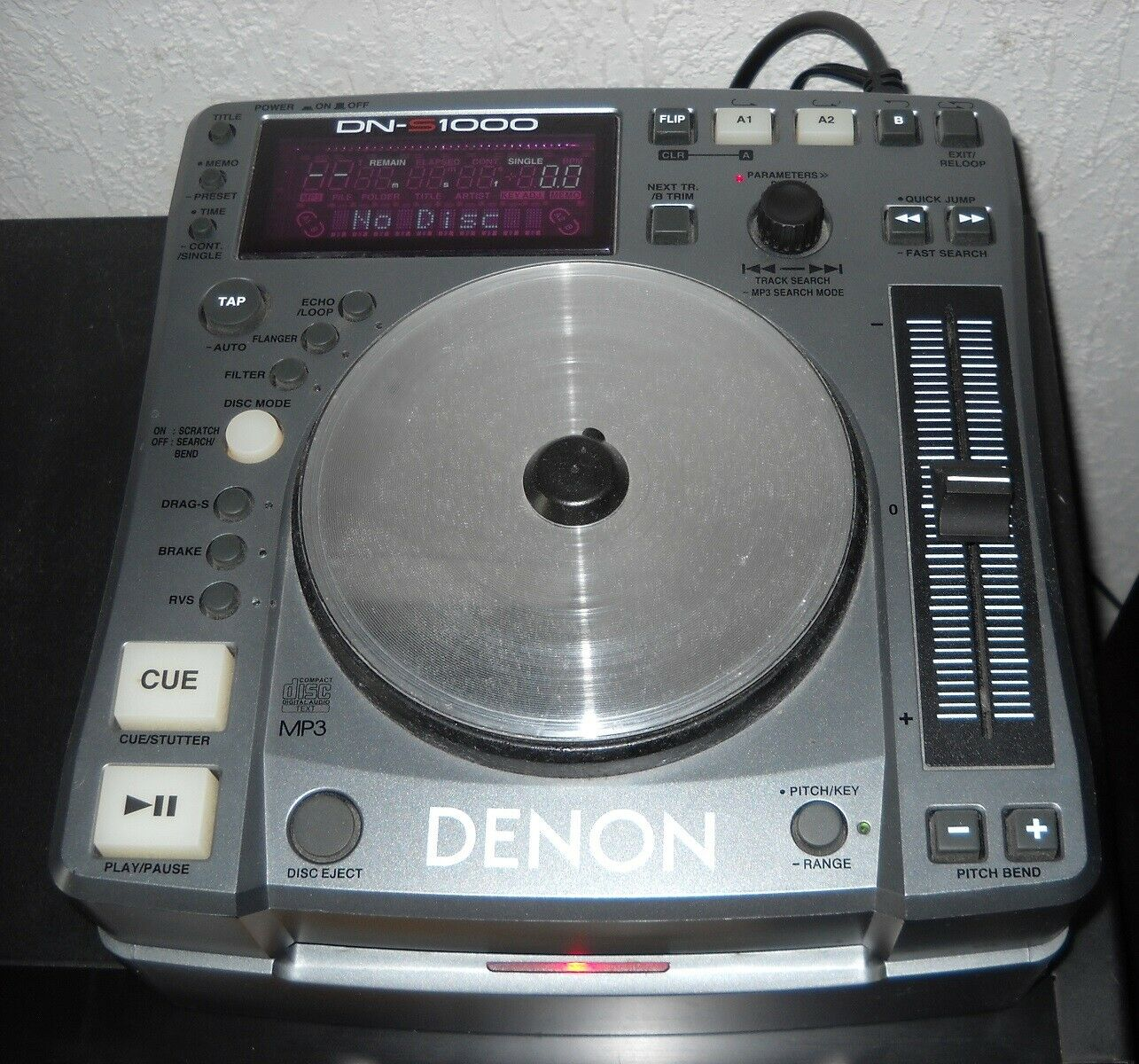 Denon DN-S1000, DJ Single CD-Player / MP3-Player - (grau/silber) - inkl. Kabel!
