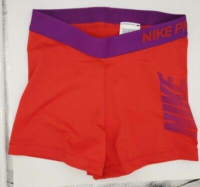 "Nike Pro Womens 3"" Graphic Compression Shorts Red Purple Medium M 725447-697"