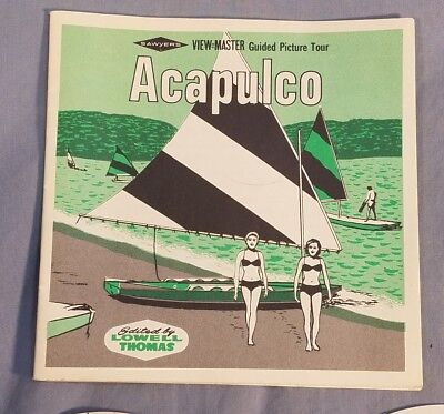 ACAPULCO Mexico Sawyer's 1960's View-Master 3 Reels + Booklet B-003 (no packet)