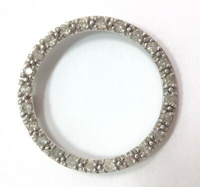 1/2ct Modern Diamond Round Open Circle Pendant for Necklace 10k Gold FMGE 417 1/2 Ct Diamond Circle Pendant