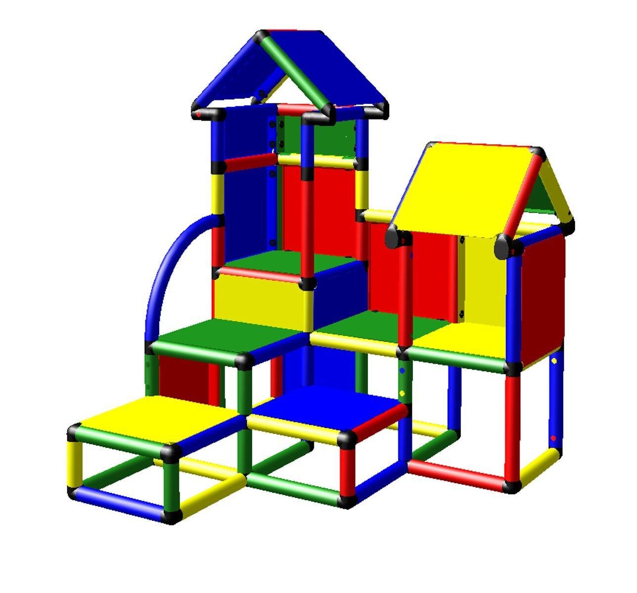 moveandstic baukasten david kletterturm spielhaus spielturm kletterger st indoor eur 304 49. Black Bedroom Furniture Sets. Home Design Ideas