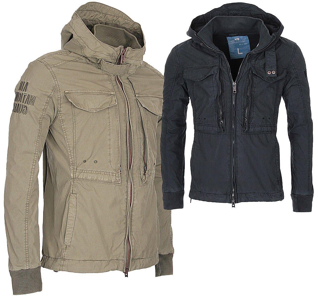Мужская верхняя одежда Jet Lag Herren Herbst Jacke Parka Baumwoll Stehkragen Übergangsjacke Blouson