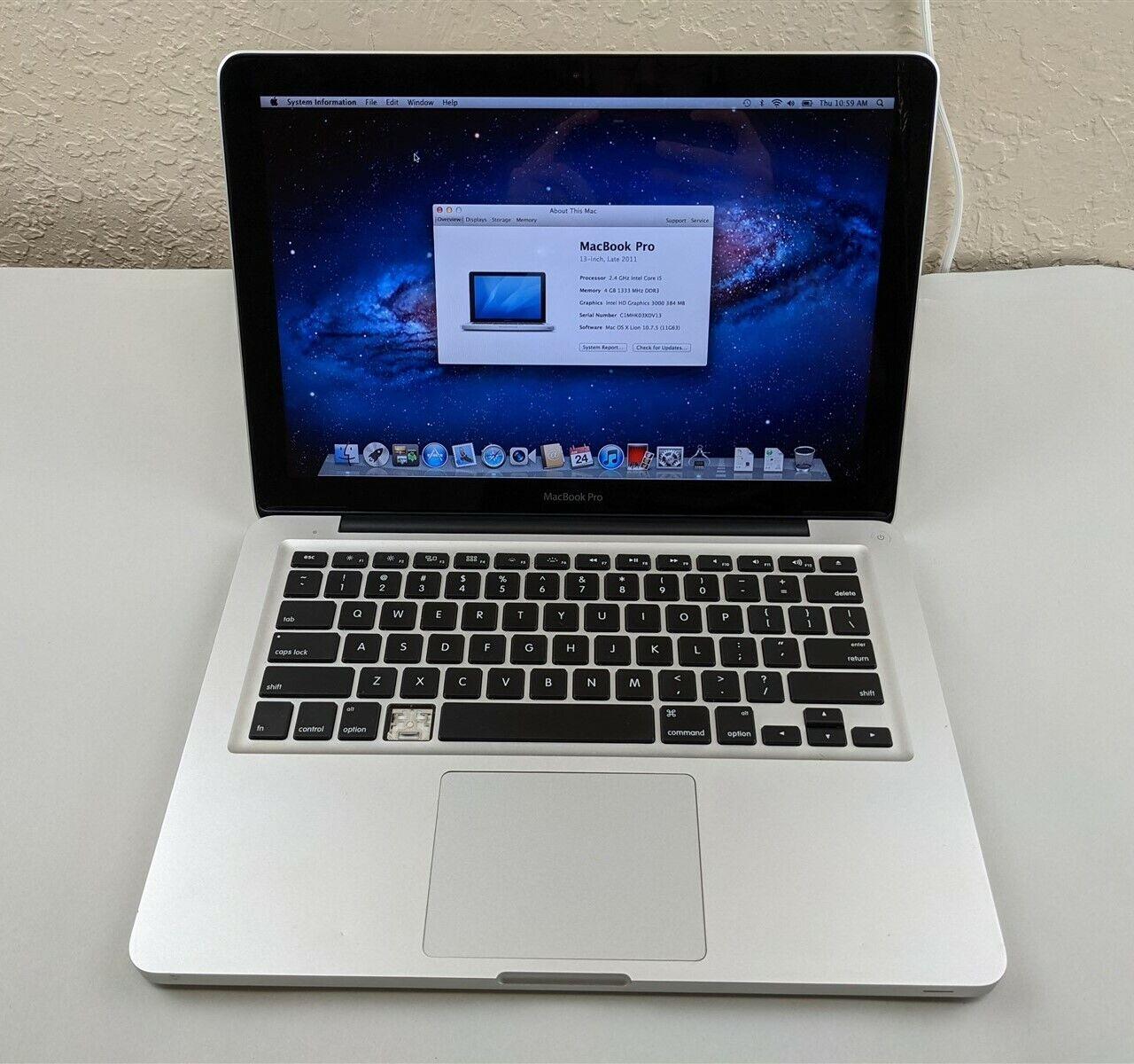 Apple MacBook Pro A1278 i5-2435M 2.40GHz 4GB RAM 500GB HDD 1